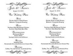 marvelous how to word wedding invitations 9 free wedding menu