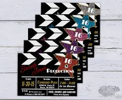 cing themed party sweet 16 birthday invitation printable 50th birthday