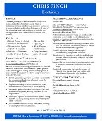 Best Electrician Resume by Resume Example U2013 19 Free Samples Examples Format Download