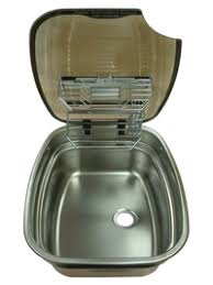 caravan sink with lid spinflo centre bowl kitchen caravan sink with rack and glass lid