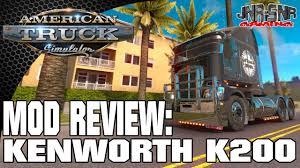 kenworth portland ats american truck simulator mod review kenworth k200 v12