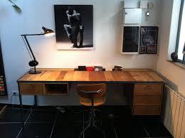 bureau industriel bois et metal bureau rolf métal et bois