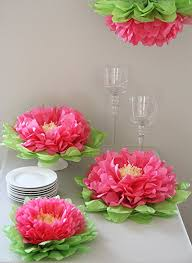 tissue paper flowers party decorations set of 7 pink tissue paper