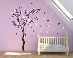 Stick On Wall Cherry Blossom Wall Decal Etsy