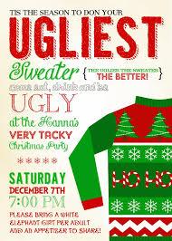 ugly sweater invitation template free themesflip com