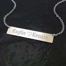 silver nameplate necklace will engrave sterling silver name plate necklace as seen on
