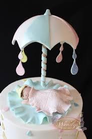 umbrella baby shower cake www wendyscakeart com cakes
