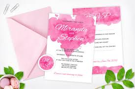 watercolor wedding invitation pack invitation templates