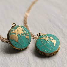 World Map Necklace by World Map Locket Globe Necklace Planet Earth Necklace