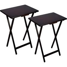 tv dinner table set tv trays stand folding trays with stand 2 piece folding tray table