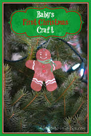 baby u0027s first christmas craft the gingerbread man ornament