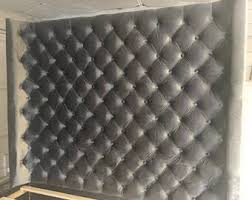 extra wide king diamond tufted headboard and bed frame in