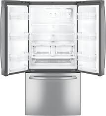 Refrigerator With French Doors And Bottom Freezer - ge gne25jskss 33 inch french door refrigerator with internal water