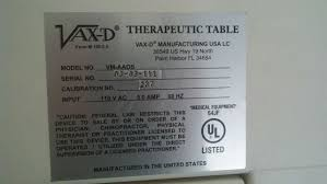 vax d table for sale vax d vm aaos traction device sale