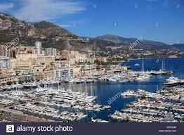 Monte Carle Port Hercule Harbor Monte Carlo Monaco Cote D U0027azur Stock Photo