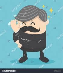 bald man who had new haircut stock vector 443045419 shutterstock
