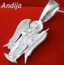 orthodox jewelry small guardian angel silver925 pendant russian orthodox jewelry