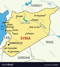 Homs Syria Map by Syria Map Royalty Free Vector Image Vectorstock