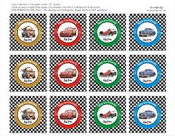 printable lightning mcqueen sticker cars 2 red cupcake toppers
