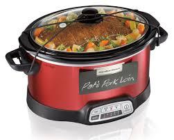 amazon com hamilton beach programmable slow cooker 5 quart with