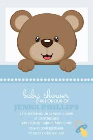 bear baby shower invitations bear baby shower invitations with