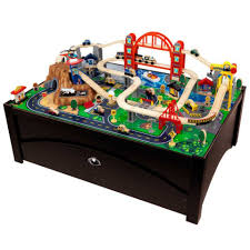 thomas the train activity table and chairs metropolis train set table