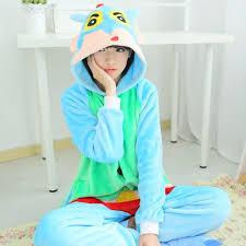 blue crayon halloween costume hoodies pajamas cosplay costumes japan cartoon crayon shin chan