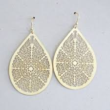 gold teardrop earrings shop large filigree teardrop earrings on wanelo