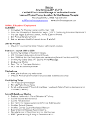 Sample Resume For Massage Therapist by Resume Templates Nursing Aide And Assistant With Physical Therapy