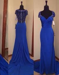 royal blue prom dresses royal blue prom dress beaded formal gown