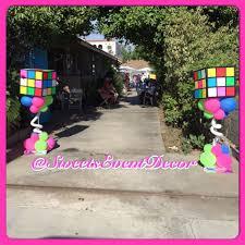 party decor ideas 80s party centerpiece ideas rubik s cube decorations