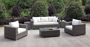 Patio Coffee Table Set by Cm Os2128 2 Outdoor Sectional Sofa U0026 Coffee Table Set