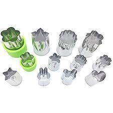 amazon com onupgo vegetable cutters shapes set 8 piece cookie