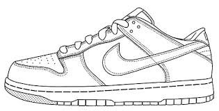 Running Shoe Coloring Page image result for running shoe line drawing kresby