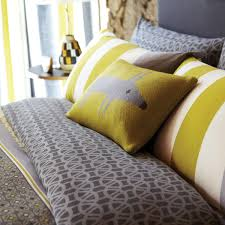 scion yellow lace stripe bed linen luxury grey striped bedding by scion at