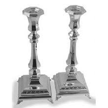 sterling silver candlesticks silver shabbat candle holders