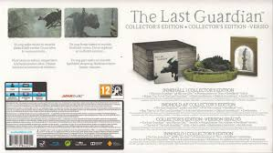 the last guardian collector s edition 2016 playstation 4 box