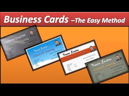 Dimensions For Business Cards Business Card Make Business Cards Powerpoint 2010 Youtube