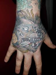 had my hand done yesterday fenrir by dan barren nevermore