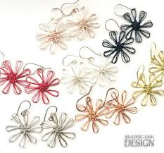 easy earrings easy wire flower earrings using a loom allfreejewelrymaking