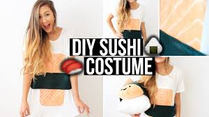 Halloween Shirt Costumes Easy Diy Sushi Costume Laurdiy Youtube