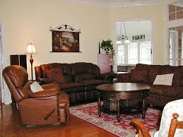Reddish Brown Leather Sofa View On The Modern Living Room Corner Brown Decorated With