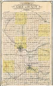 Nebraska County Map Gage County Historical Society And Museum