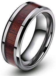 buy wood rings images 8mm wood inlay men 39 s tungsten metal ring comfort fit engagement jpg