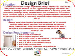 design brief a level gcse design and technology project resistant materials breadbin