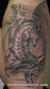 new grey ink dragon fantasy tattoo dragons pinterest fantasy