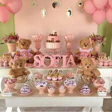 teddy baby shower ideas i can get some cut out letter to paint pink green and brown for