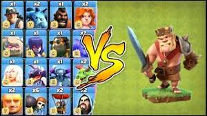 clash of clans all troops et télécharger max barbarian king vs all troops max clash of clans
