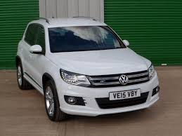 volkswagen tiguan 2016 white used volkswagen tiguan white for sale motors co uk