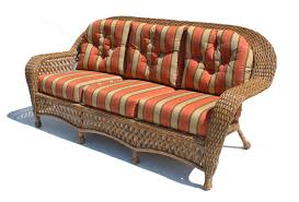 Rattan Settee Outdoor Wicker Sofa Montauk Shown In Natural